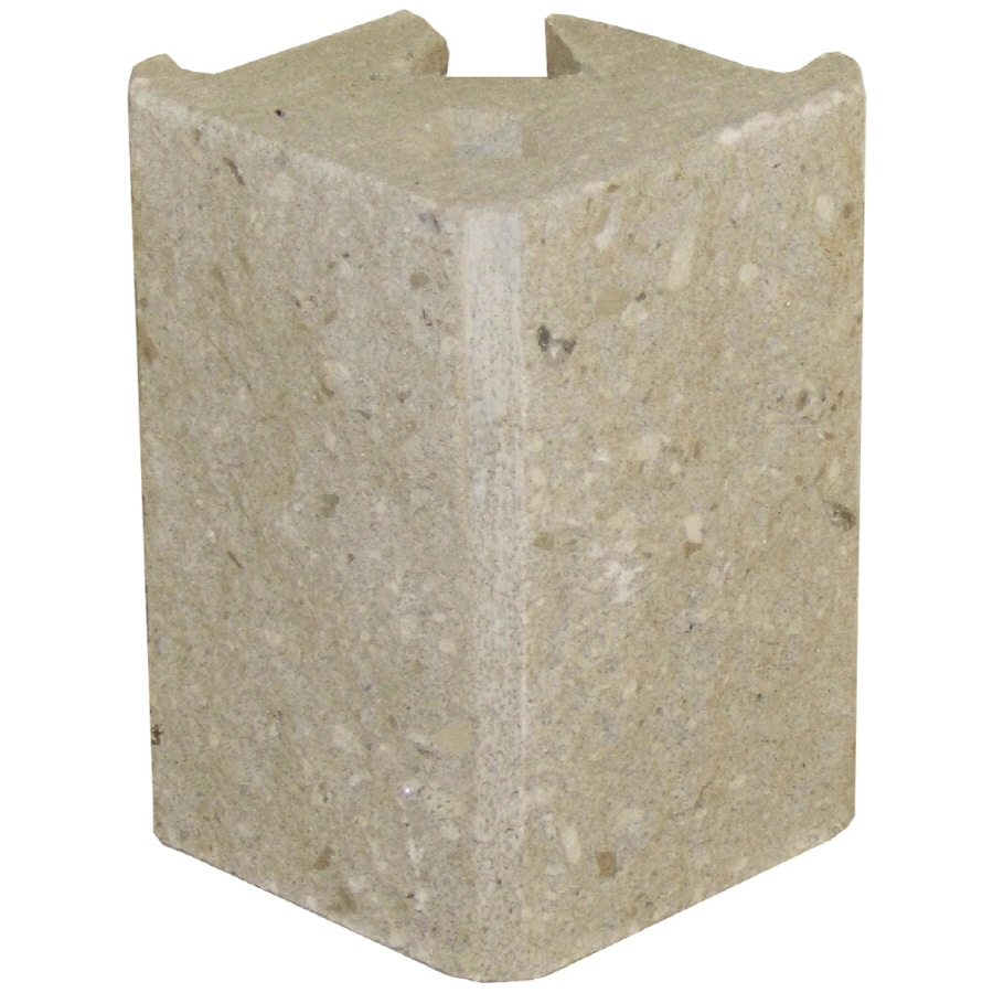 Novabrik 4-in x 6-in Marble White Outside Corner Block Brick Veneer Trim