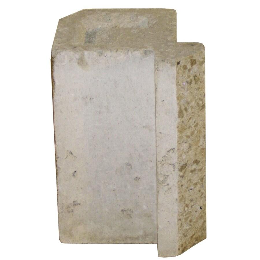 Novabrik 4.25-in x 6-in Marble White Inside Corner Block Brick Veneer Trim