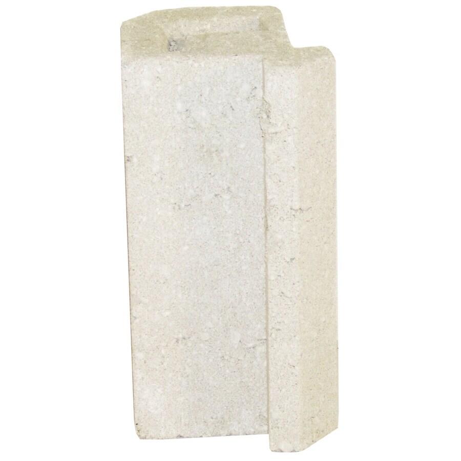 Novabrik 4.25-in x 8-in Marble White Inside Corner Block Brick Veneer Trim
