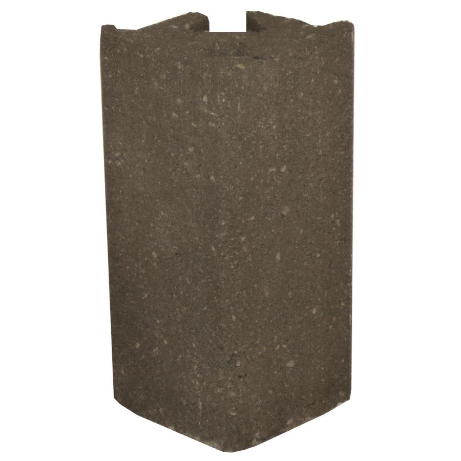 Novabrik 3.81-in x 8-in Charcoal Outside Corner Block Brick Veneer Trim