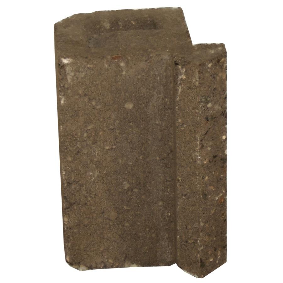 Novabrik 4.25-in x 6-in Walnut Inside Corner Block Brick Veneer Trim