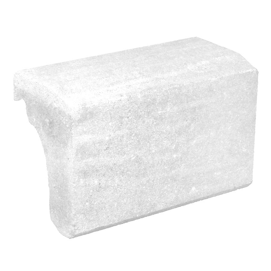 Novabrik 3.87-in x 7.87-in Marble White Wainscot Caps Brick Veneer Trim