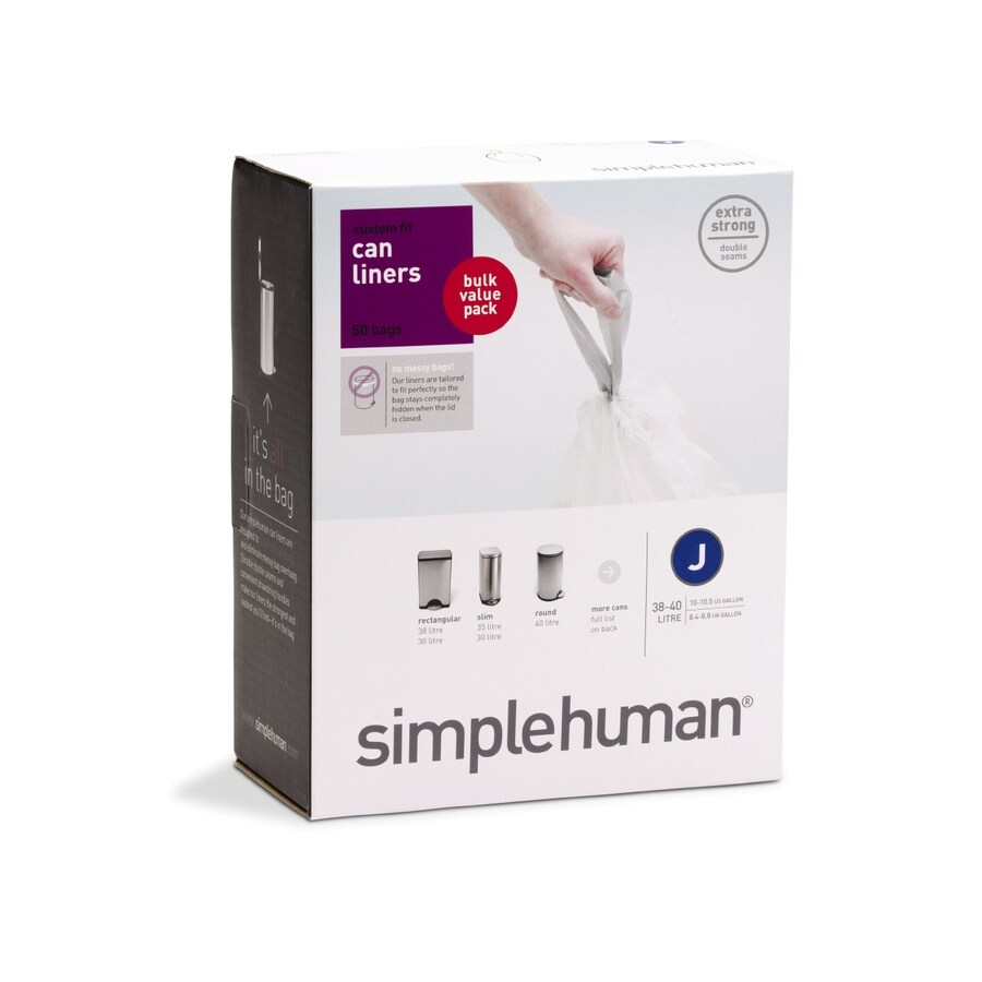 simplehuman 50-Count 10.5-Gallon Trash Bags