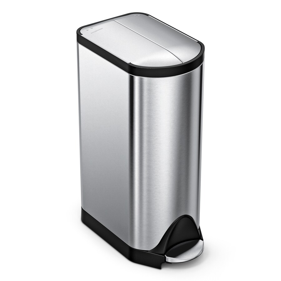 Simplehuman Erfly 30 Liter Brushed Stainless Steel Trash Can With Lid