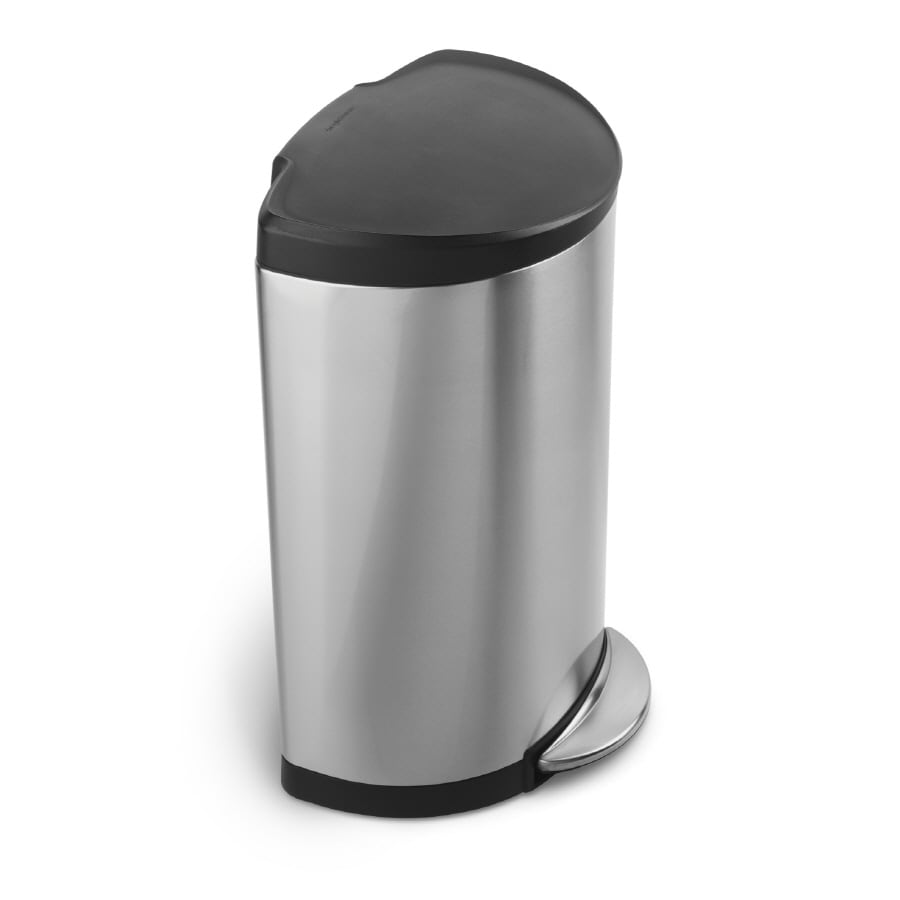 simplehuman 30-Liter Brushed Stainless Steel Indoor Garbage Can