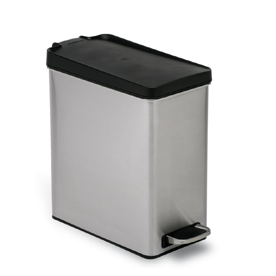 simplehuman 10-Liter Brushed Stainless Steel Trash Can
