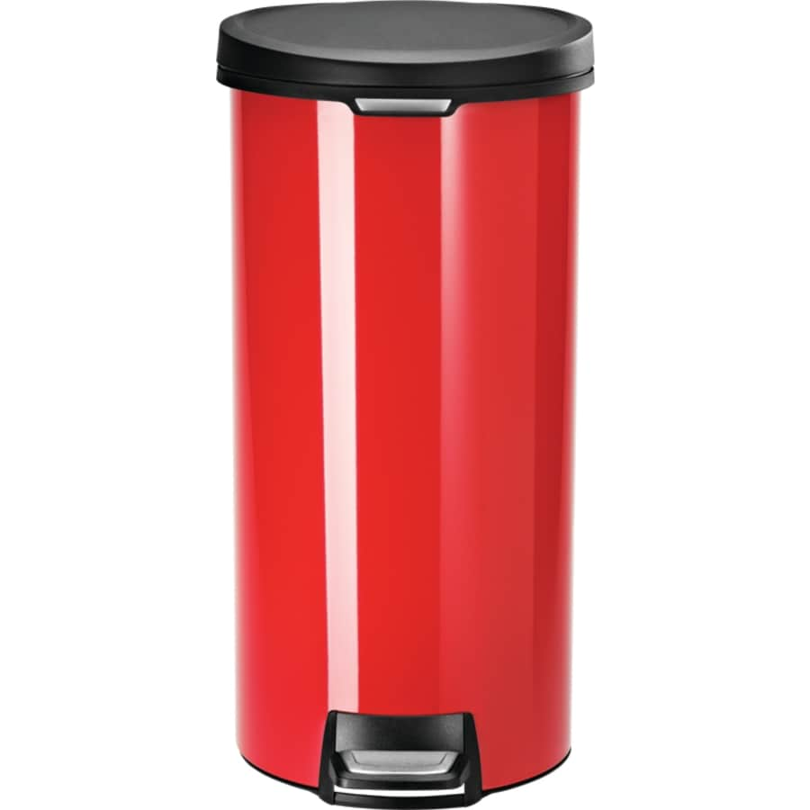 Simplehuman 30 Liter Red Stainless Steel Indoor Garbage Can