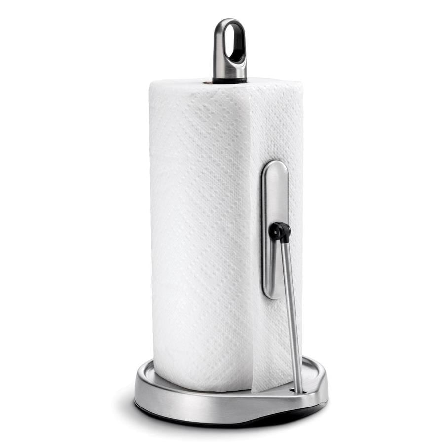 simplehuman Metal Freestanding Paper Towel Holder