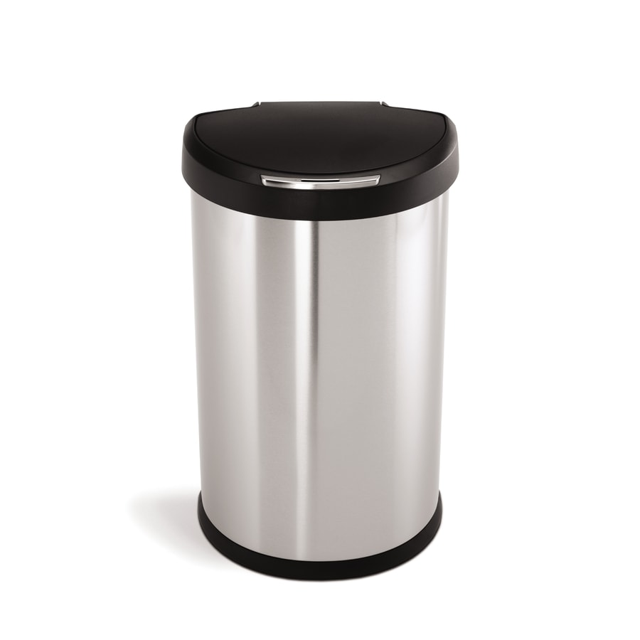 simplehuman 45-Liter Brushed Stainless Steel Indoor Garbage Can
