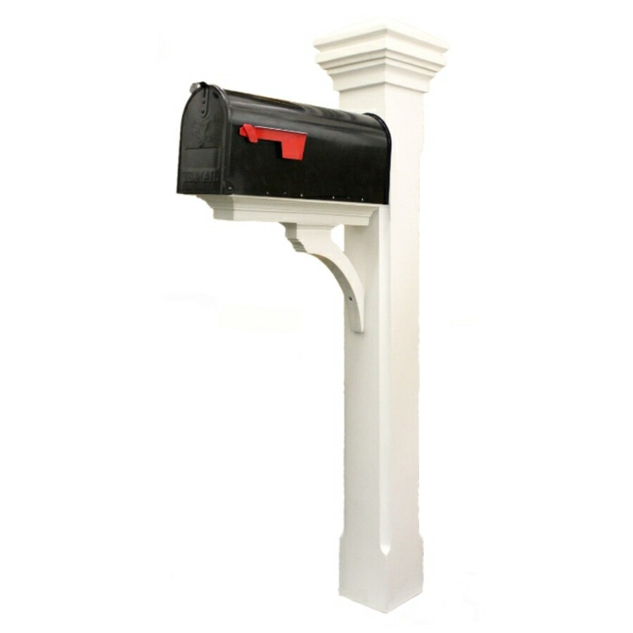 Shop Eye Level White Smooth Mailbox Post At Lowes Com