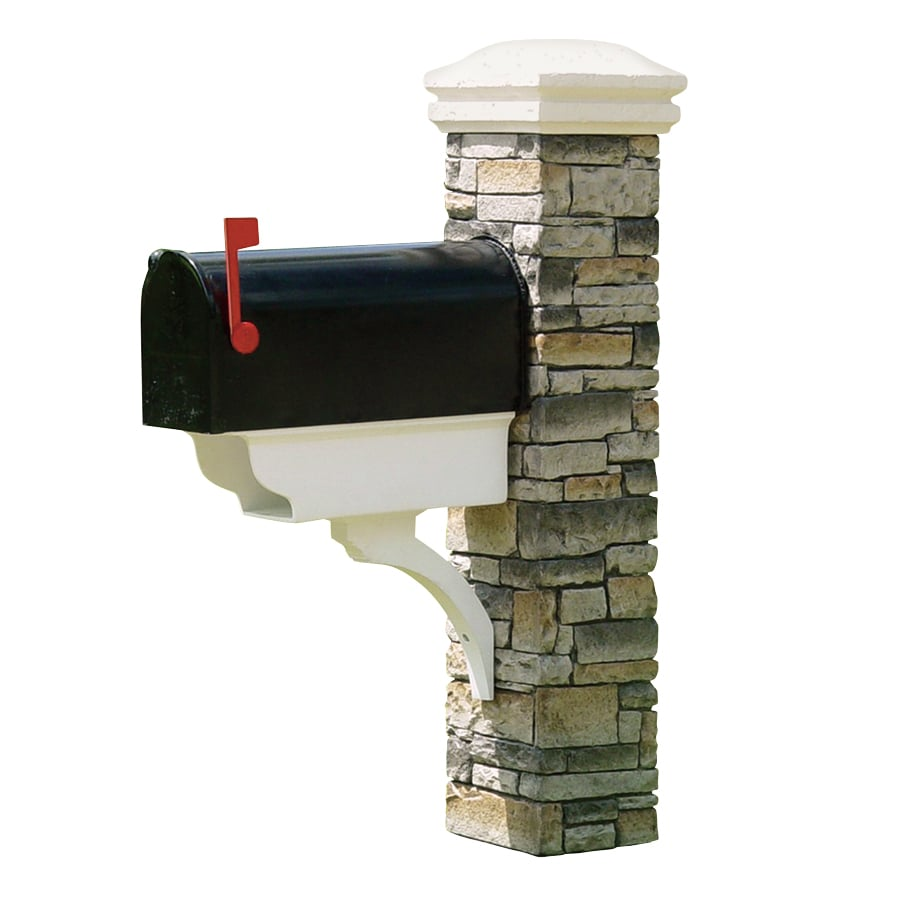 852 Bathtub Data Base Emails Contact Us Hk Mail: Shop Eye Level Gray Cast Stone Mailbox Post At Lowes.com