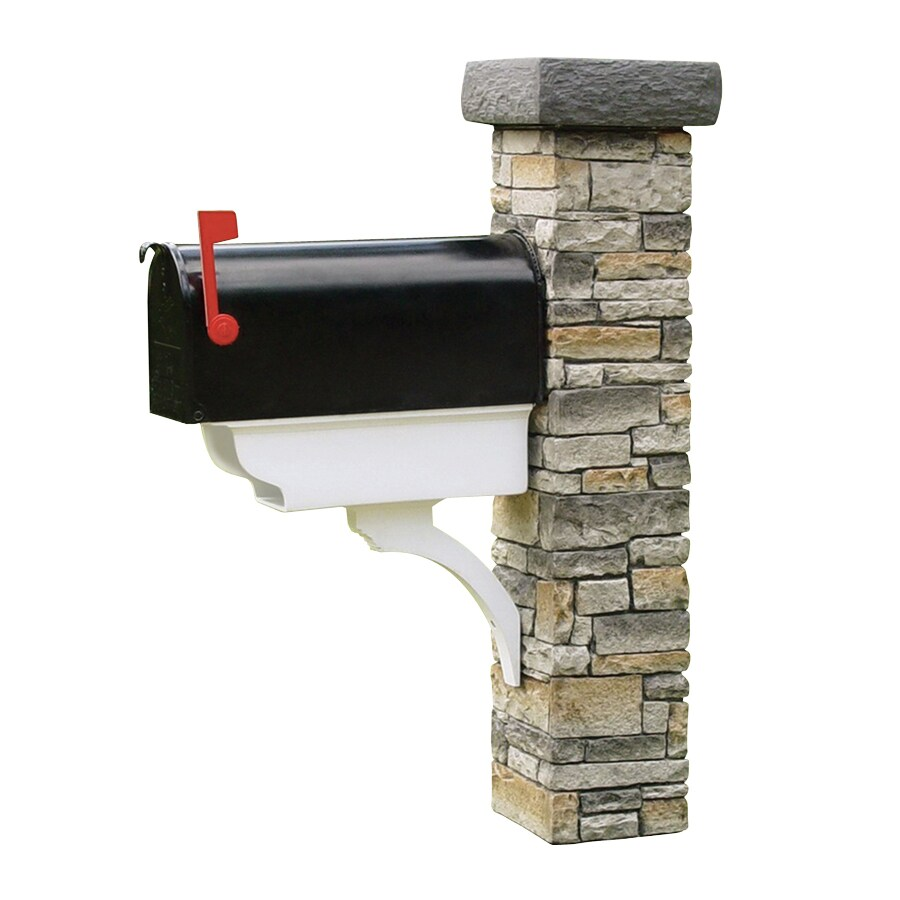 Eye Level Gray Cast Stone Mailbox Post At Lowescom