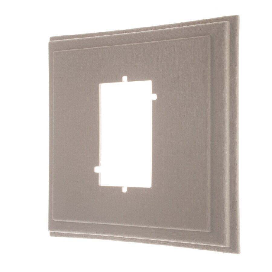 Severe Weather 7.62-in x 7.8-in Clay Vinyl Electrical Mounting Block