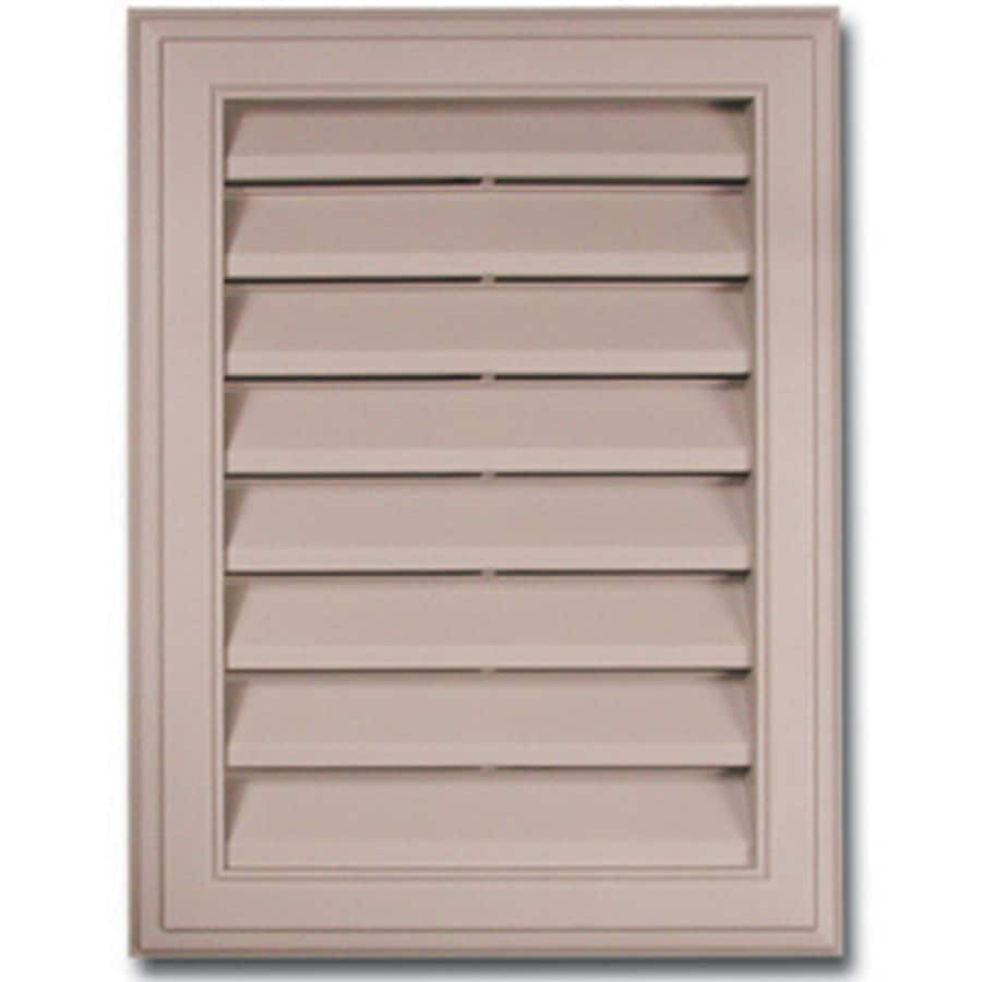 Royal 20-in x 15-in White Rectangle Plastic Gable Vent