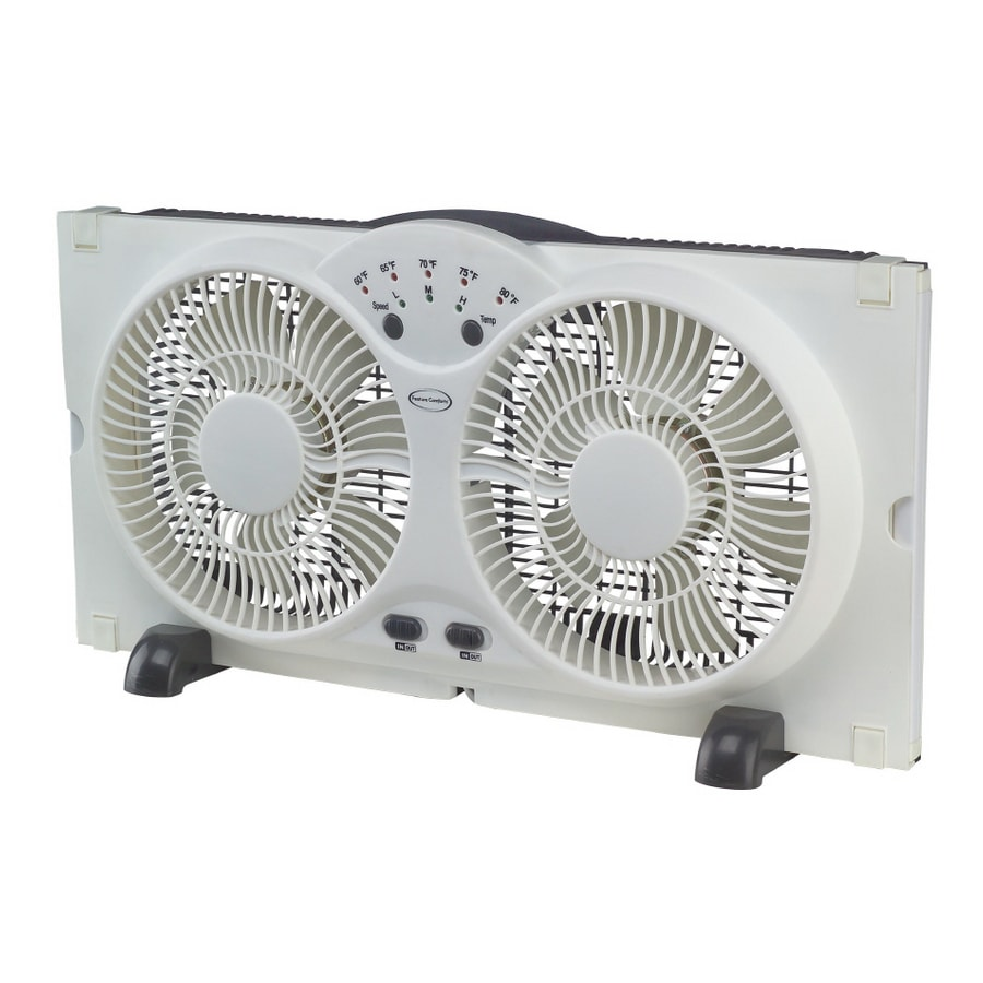 Shop Feature Comforts 9 Twin Window Fan At Lowes Com