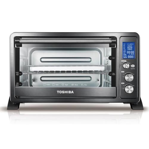 Toshiba 6-Slice Stainless Steel Convection Toaster Oven with Rotisserie at Lowes.com