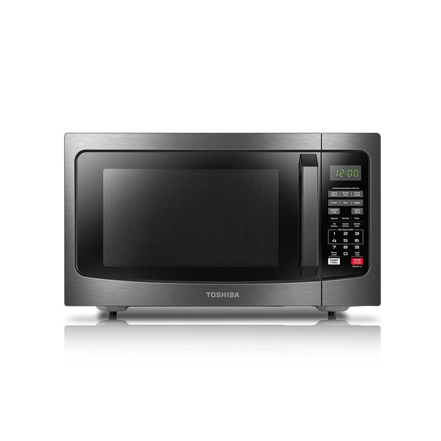 Toshiba 1 2 Cu Ft 1100 Watt Countertop Microwave Black