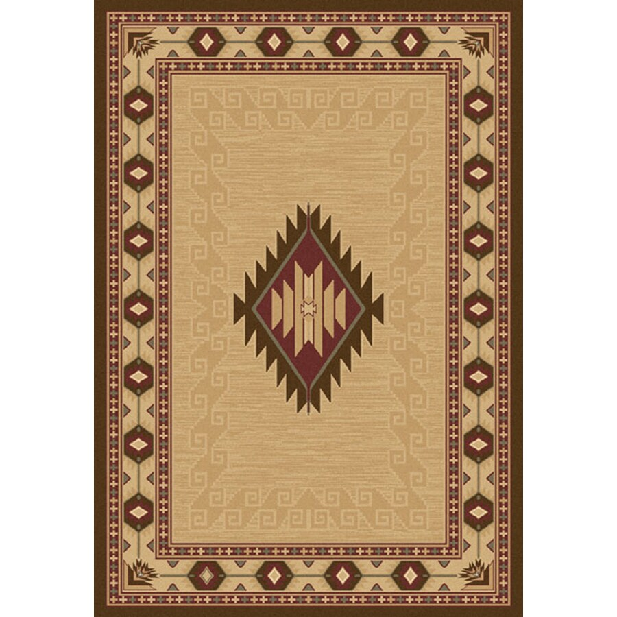 Balta 7-ft 10-in x 10-ft 10-in Beige Cheyenne Area Rug