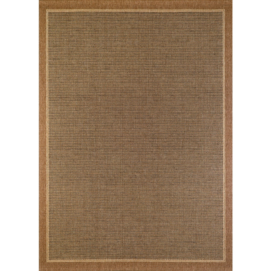Balta Sisal Brown Havanah Rectangular Indoor/Outdoor Machine-Made Nature Area Rug (Common: 5 x 7; Actual: 5.25-ft W x 7.55-ft L)