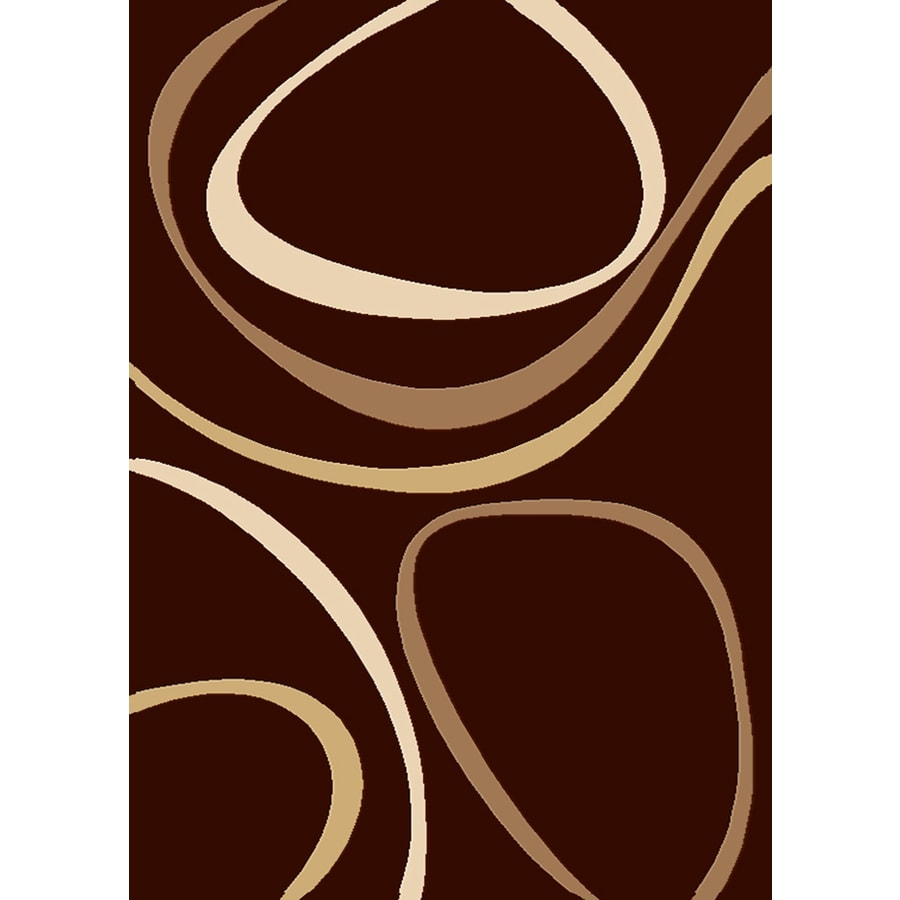 Balta Modern-Chocolate Ripple Rectangular Indoor Woven Area Rug