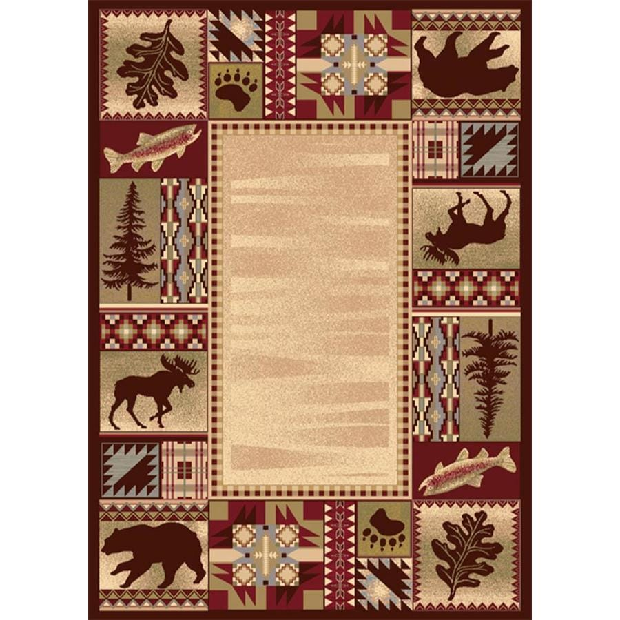 Balta National Preserve Beige Indoor Lodge Area Rug Common 5 X 7 Actual 25 Ft W 33 L