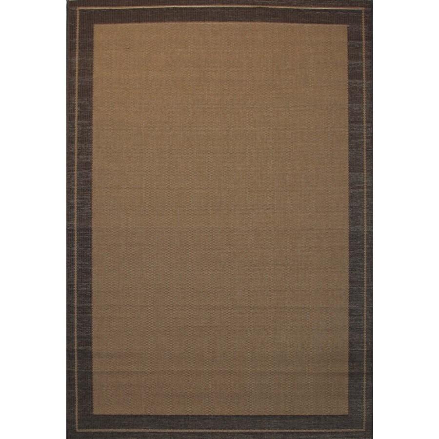 allen + roth Decora 7-ft 10-in x 10-ft 6-in Rectangular Tan Border Indoor/Outdoor Area Rug