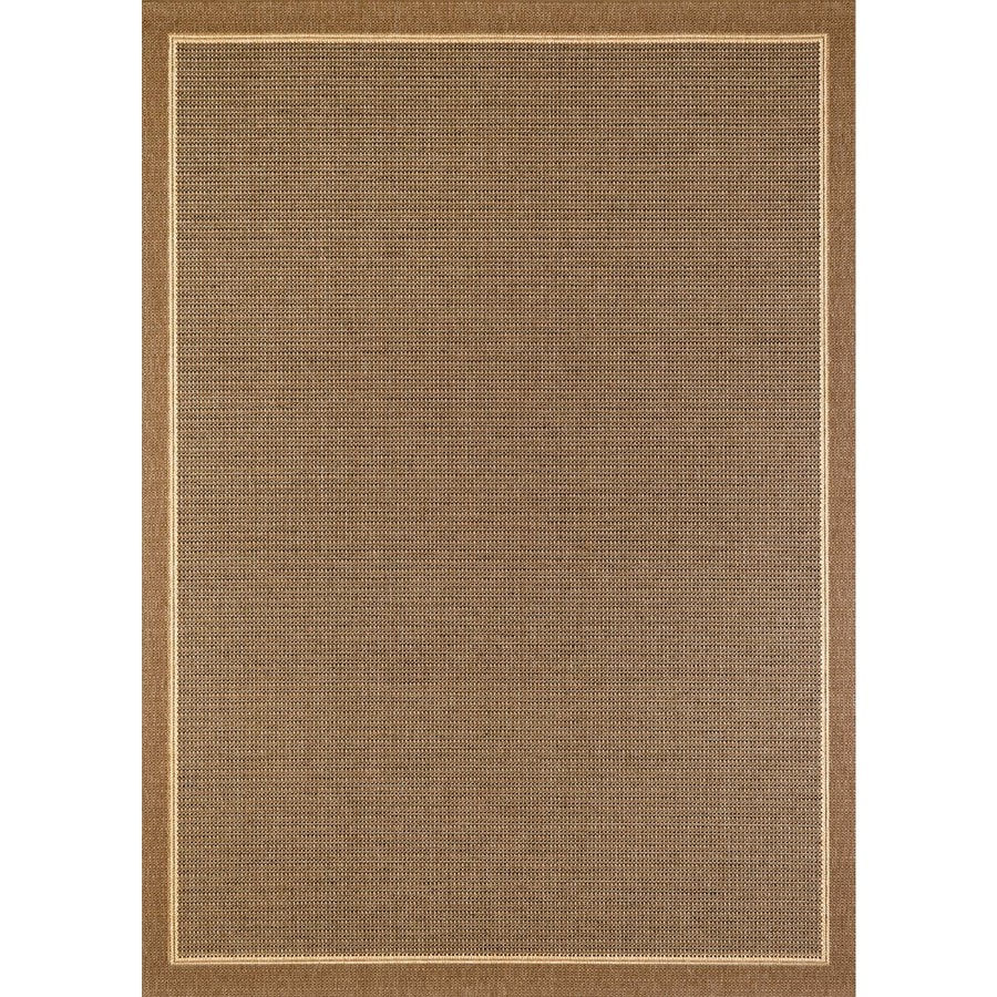 Shop balta sisal brown havanah rectangular indoor outdoor for Indoor out door rugs