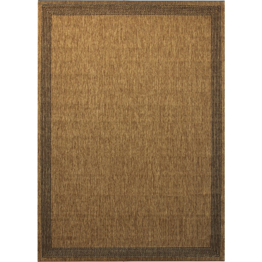 Shop allen roth decora rectangular indoor outdoor woven for Woven vinyl outdoor rugs