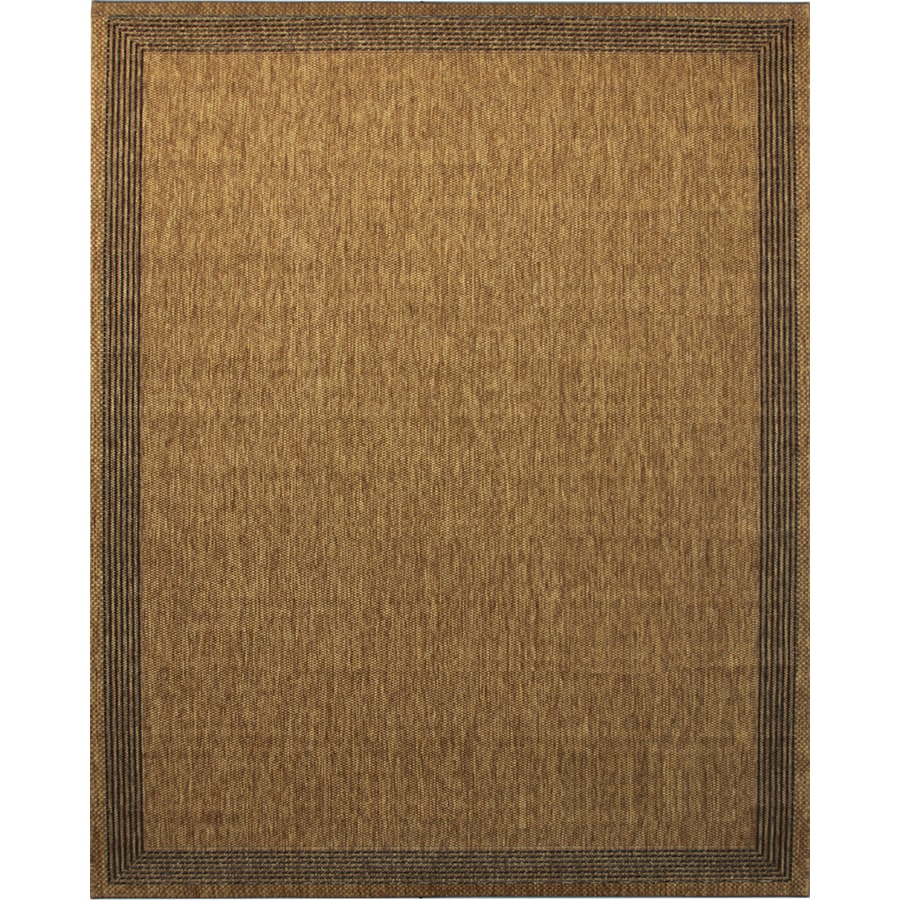 Portfolio Arena Chestnut Rectangular Indoor/Outdoor Machine-Made Inspirational Area Rug (Common: 8 x 10; Actual: 7.87-ft W x 10.49-ft L)