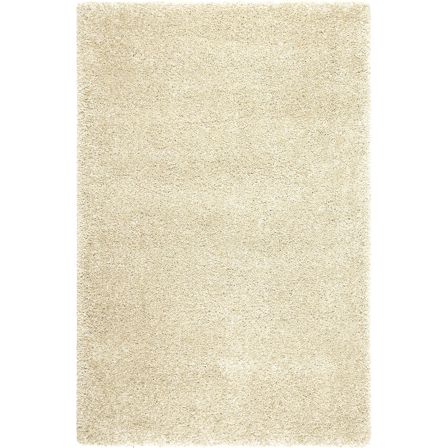 Balta Opening Night Polish Cream Rectangular Indoor Machine-Made Inspirational Area Rug (Common: 4 x 6; Actual: 3.11-ft W x 5.6-ft L)