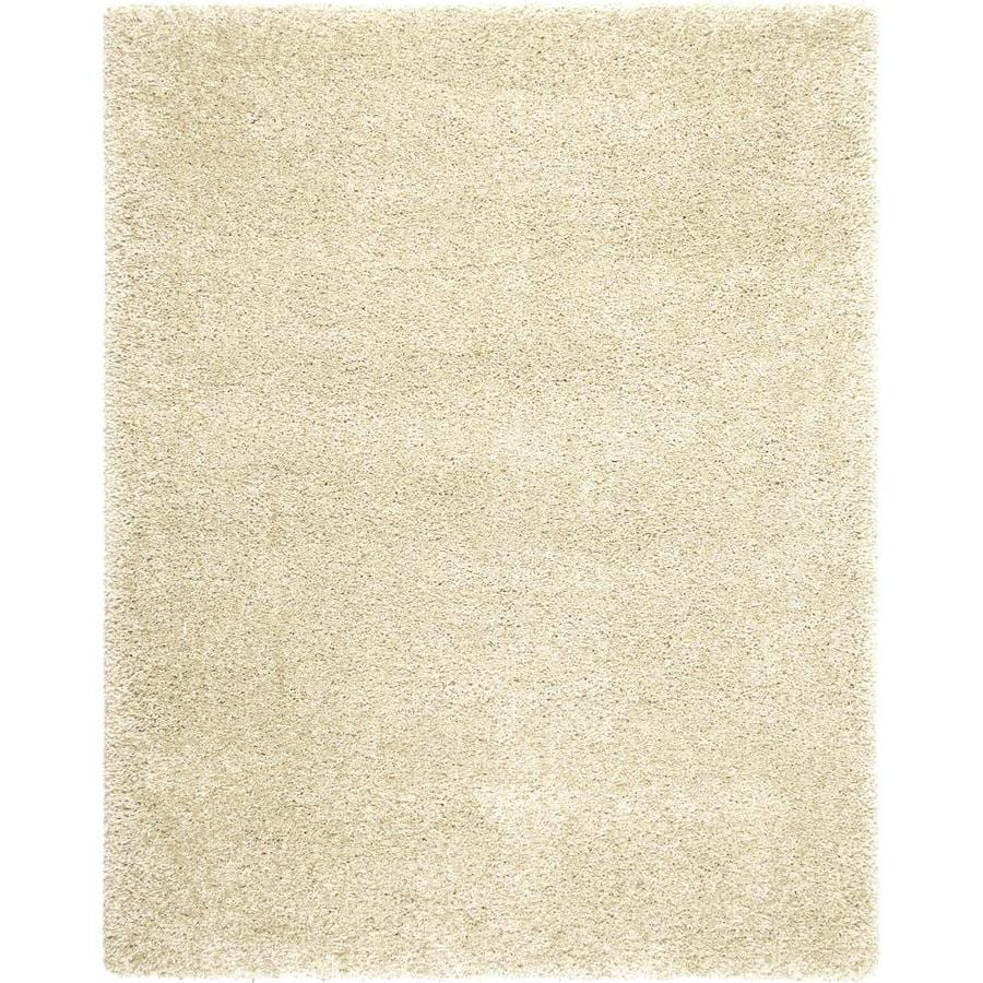 allen + roth Opening Night Polish Cream Rectangular Indoor Shag Area Rug (Common: 8 x 10; Actual: 7.11-ft W x 10-ft L)