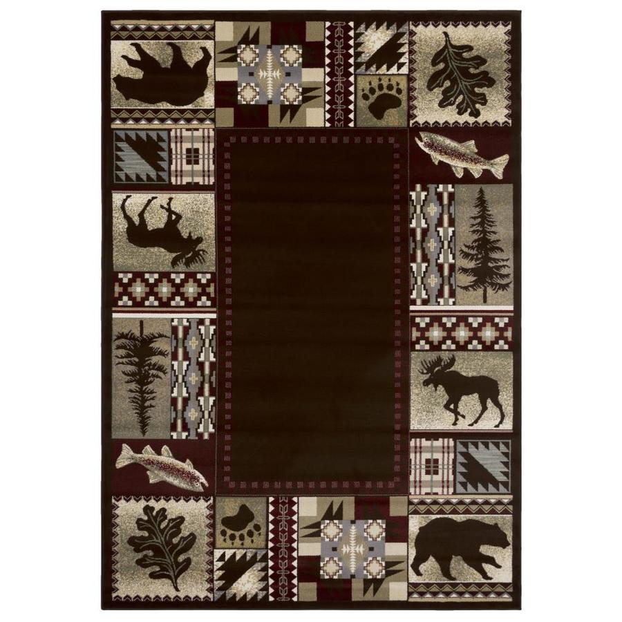 Balta National Preserve Beige Rectangular Indoor Machine-Made Lodge Area Rug (Common: 4 x 6; Actual: 3.11-ft W x 5.6-ft L)