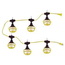 Utilitech Pro 7500 Lumen 50 Ft White Shade Led Bulb String Lights