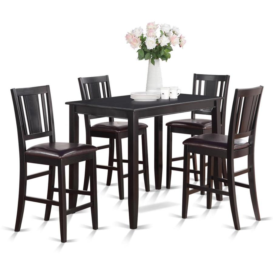 East West Furniture Buckland Black Dining Set With Table At Lowes Com