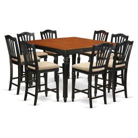 East West Furniture Chelsea Black And Cherry Dining Set With Table