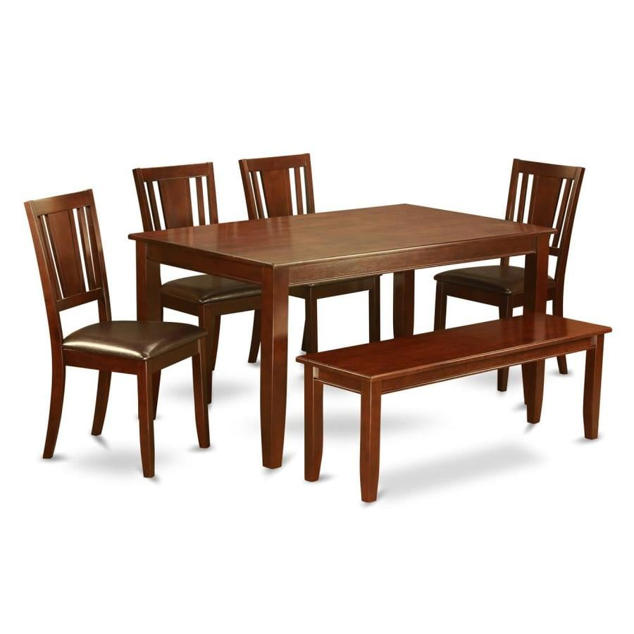 East West Furniture Dudley Mahogany Dining Set With Table