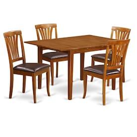 Fabulous Faux Leather Medium Dining Room Sets At Lowes Com Creativecarmelina Interior Chair Design Creativecarmelinacom