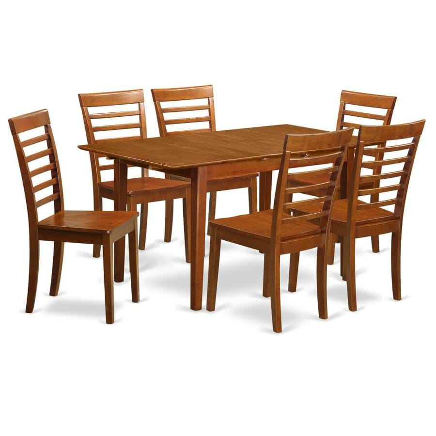 Peachy East West Furniture Picasso Saddle Brown Dining Set With Gmtry Best Dining Table And Chair Ideas Images Gmtryco
