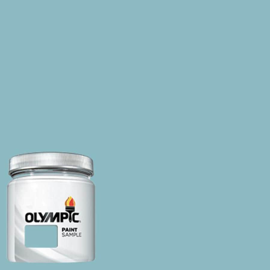 Shop Olympic Kingston Aqua Interior Exterior Paint Sample