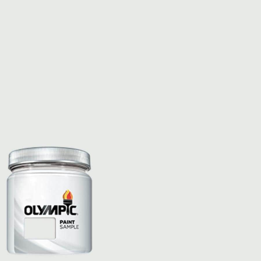 Olympic (OL108) True White Interior/Exterior Satin Paint Sample (Actual Net Contents: 7.25-fl oz)
