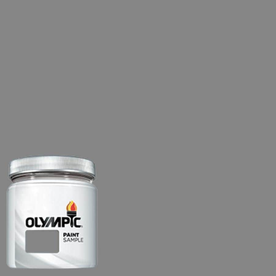 Olympic (OL168) Dover Gray Interior/Exterior Satin Paint Sample (Actual Net Contents: 7.25-fl oz)