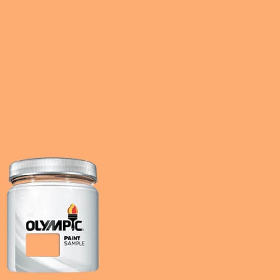 Olympic (OL610.4) Orange Marmalade Interior/Exterior Satin Paint Sample (Actual Net Contents: 7.25-fl oz)