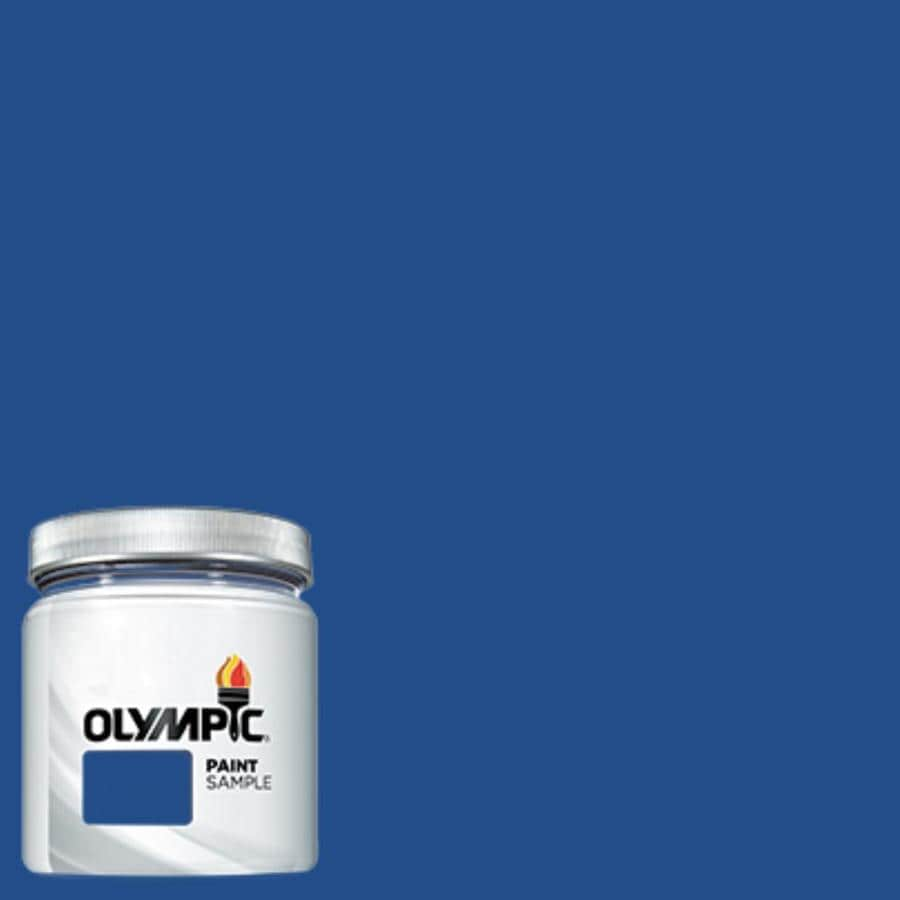Olympic (OL672.6) Brilliant Blue Interior/Exterior Satin Paint Sample (Actual Net Contents: 7.25-fl oz)
