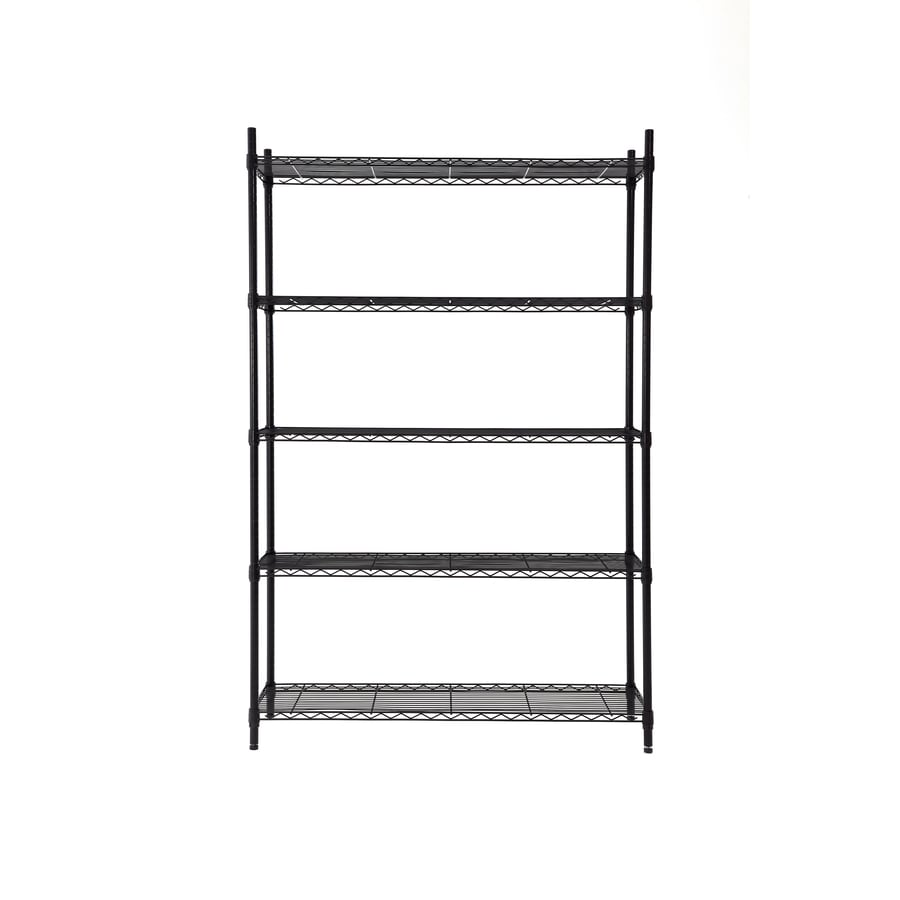 Style Selections 72-in H x 47.7-in W x 18-in D - Shop Style Selections 72-in H X 47.7-in W X 18-in D 5-Tier Steel