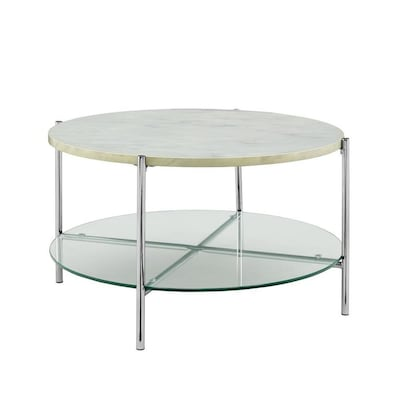 Terrific Walker Edison White Faux Marble Coffee Table At Lowes Com Beatyapartments Chair Design Images Beatyapartmentscom