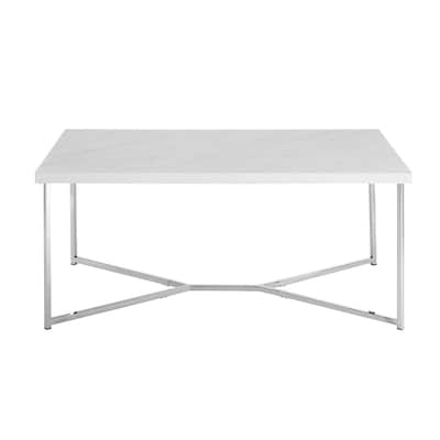 Brilliant Walker Edison Faux White Marble Faux Marble Coffee Table At Unemploymentrelief Wooden Chair Designs For Living Room Unemploymentrelieforg