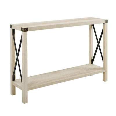 Phenomenal Walker Edison White Oak Rustic Console Table At Lowes Com Beatyapartments Chair Design Images Beatyapartmentscom
