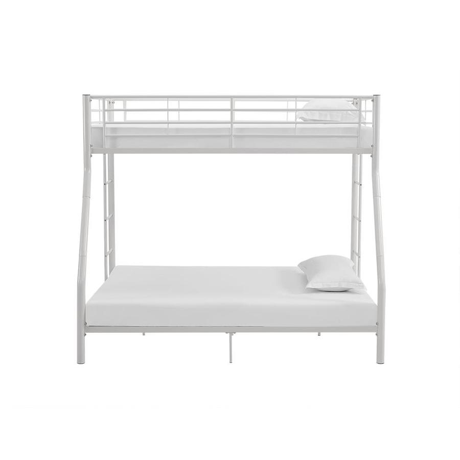 Walker Edison White Twin Over Full Bunk Bed In The Bunk Beds Department At Lowes Com