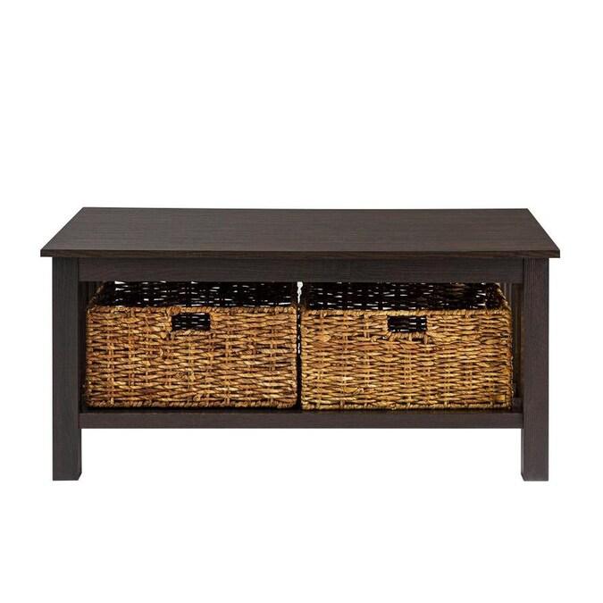 walker edison espresso wood veneer coffee table in the
