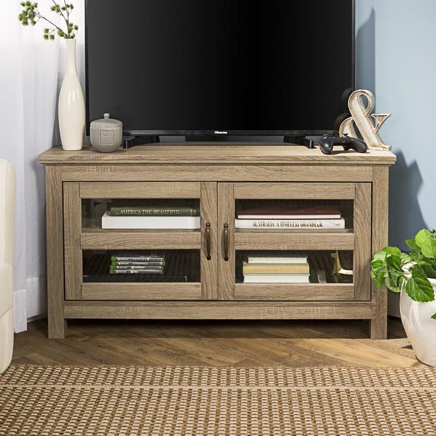 "Walker Edison 44/"" Wood TV Stand Driftwood"